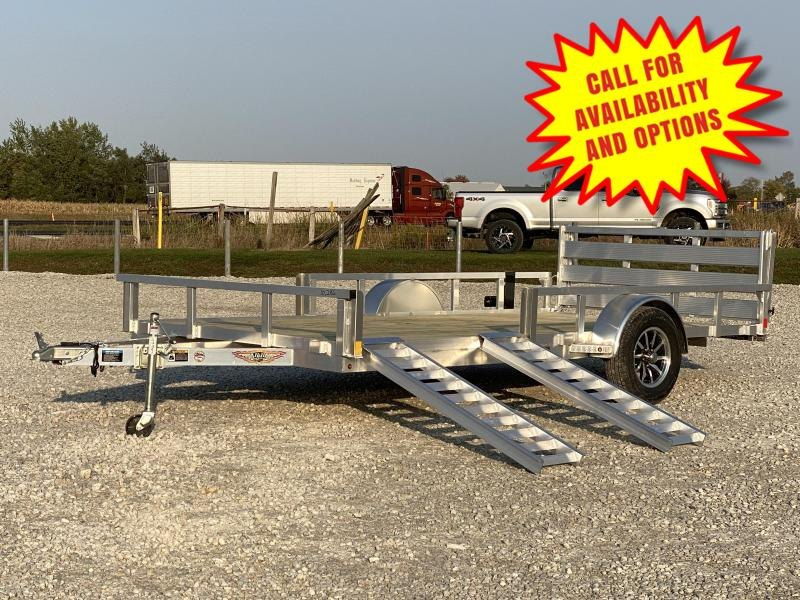 """New H And H Aluminum 82""""x14' W/ Side Ramps"""