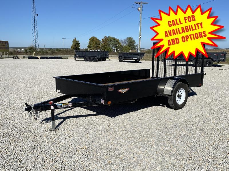 """2018 H and H 76""""x12' W/ Solid Sides"""