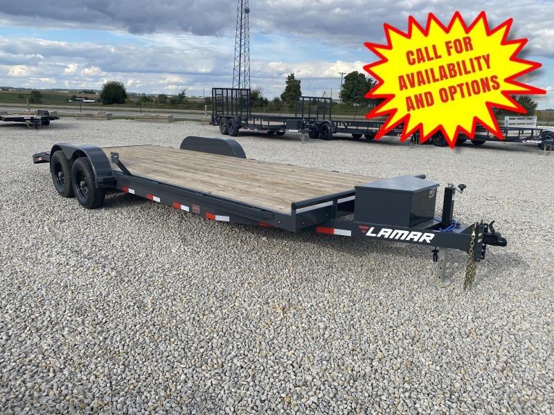 New Lamar 22' Car Hauler 9990# W/ Tool Box