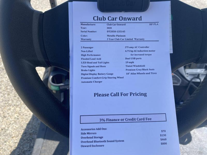 2020 Club Car Onward HP AC Electric Golf Cart
