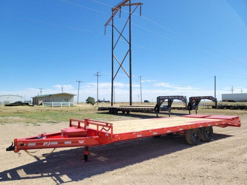 2022 PJ Trailers 102x24' Equipment 14K Dove Tail Monster Ramps (F8)