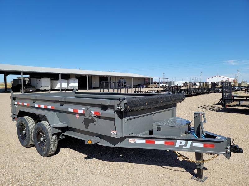 2022 PJ Trailers 83x14' Bumper Pull Dump 7K 2' Sides (DL)