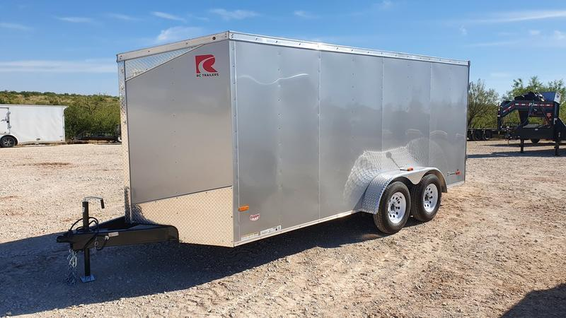 2021 Carry-On 7'x16' Tandem axle Enclosed Cargo Trailer w/Double Rear Doors