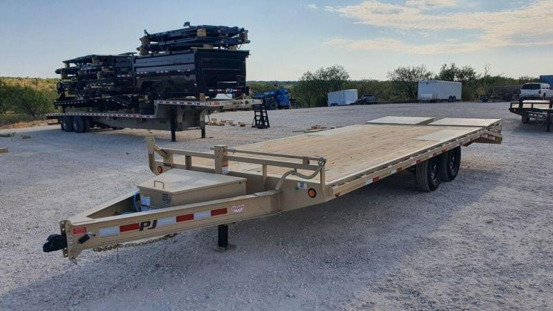 2022 PJ Trailers 102''x22' Deckover Equipment w/Monster Ramps (F8)