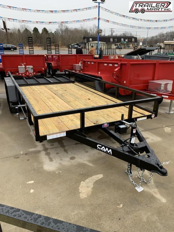 2021 Cam Superline P8216TAT-B-070 (7x16 Tube Top CAM Utility Trailer 7K Tandem) Utility Trailer