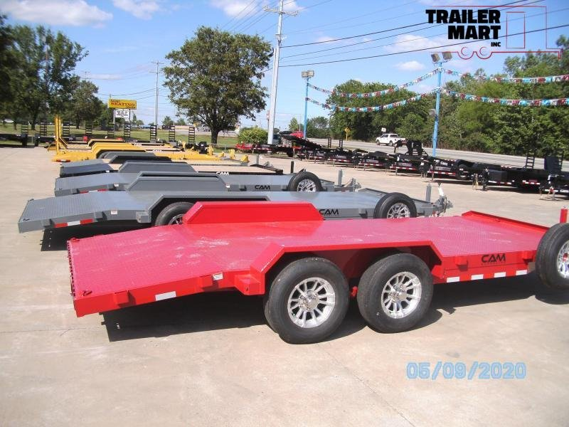 2020 Cam Superline 20' Car Hauler Flatbed Trailer - 5 Ton