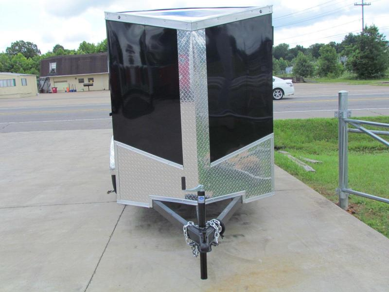 2019 Eagle 5x8 Enclosed Cargo Trailer with Ramp and a Side Entrance Door