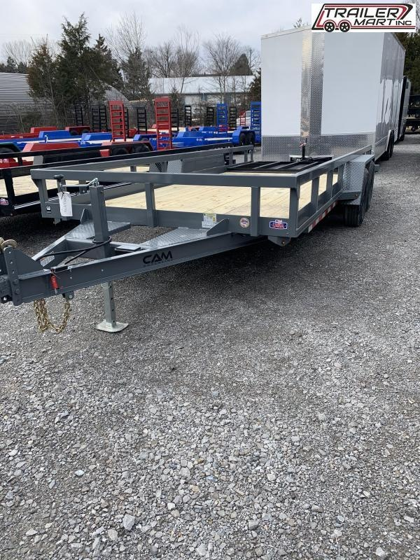 2021 Cam Superline P8218TAT-B-070 (7x18 Tube Top CAM Utility Trailer 7K Tandem) Utility Trailer