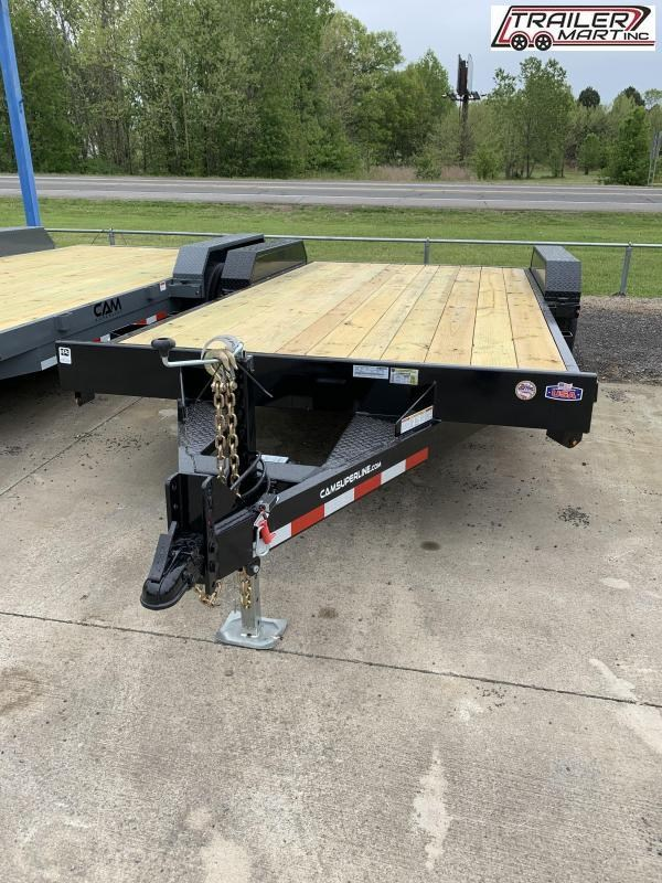 2021 Cam Superline P5CAM18CH (5 Ton Car Hauler Trailer 18FT Wood Deck) Flatbed Trailer