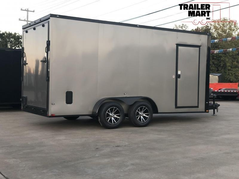 2021 Spartan 7x16x7 Enclosed Cargo Trailer  with Aluminum Wheels