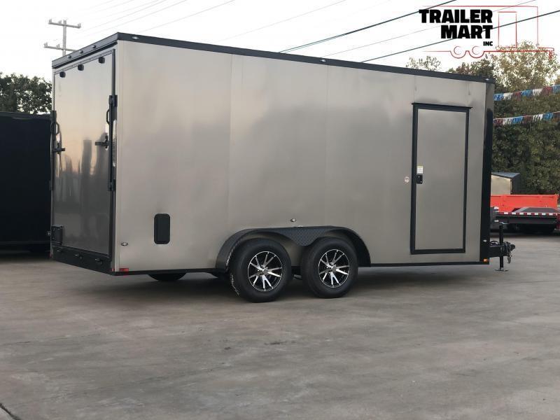 2021 Spartan 7x16x7 Enclosed Cargo Trailer  with Aluminum Wheels