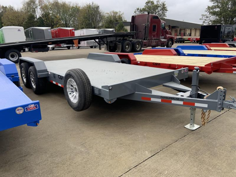 2021 Cam Superline P5CAM18CHS (5 Ton Car Hauler Trailer 18FT Steel Deck) Flatbed Trailer