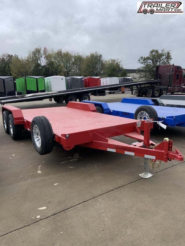 2021 Cam Superline P5CAM18CHS (5 Ton Car Hauler Trailer 18FT Steel Deck) Flatbed Trailer