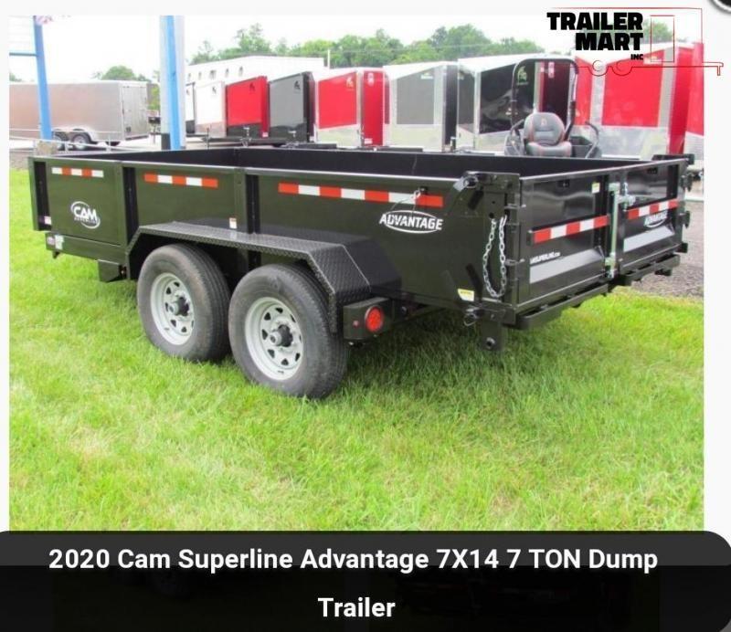 2020 Cam Superline Advantage 7X14 7 TON Dump Trailer