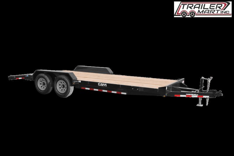 2021 Cam Superline P5CAM18CH (5 Ton Car Hauler Trailer 18FT Wood Deck) Flatbed Trailer