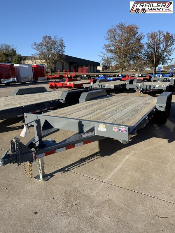 2021 Cam Superline P35CAM18CH (3.5 Ton Car Hauler Trailer 18FT Wood Deck) Flatbed Trailer