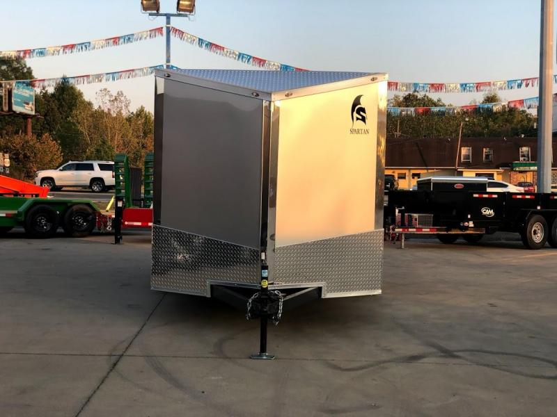2020 Spartan 7X14 LOADED 2-3 Bike Hauler Finished Interior Chrome Package HD Enclosed Trailer