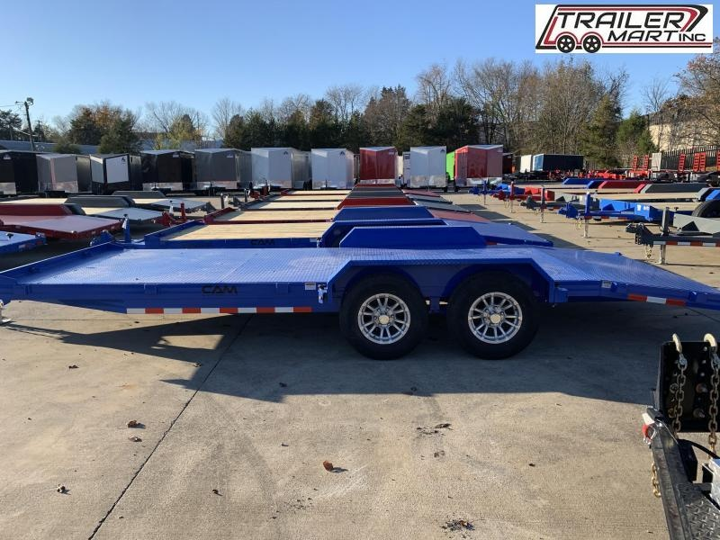 2021 Cam Superline P5CAM20CHS (5 Ton Car Hauler Trailer 20FT Steel Deck) Flatbed Trailer