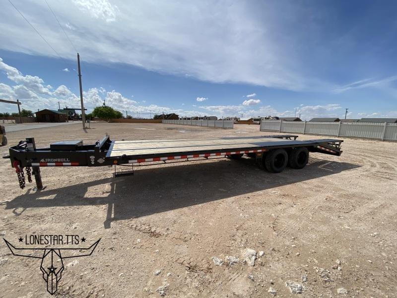2021 Iron Bull Heavy Duty Deckover Pintle Equipment Trailer