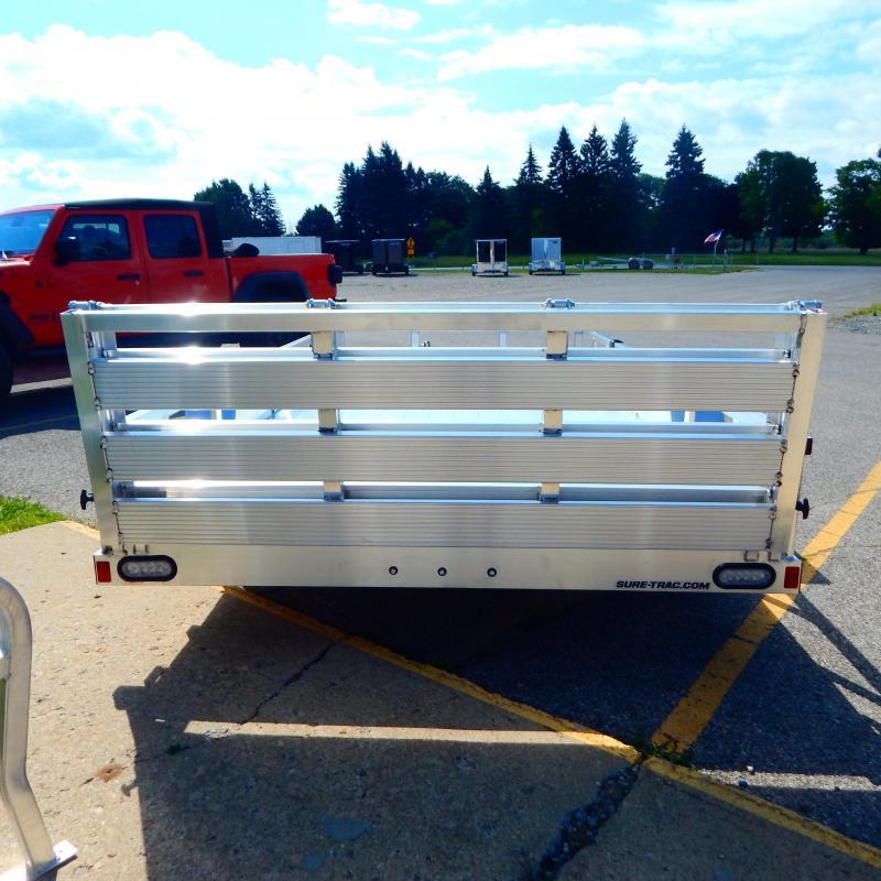 2022 Sure-Trac 7x12 3k Aluminum Tube Top Utility Trailer