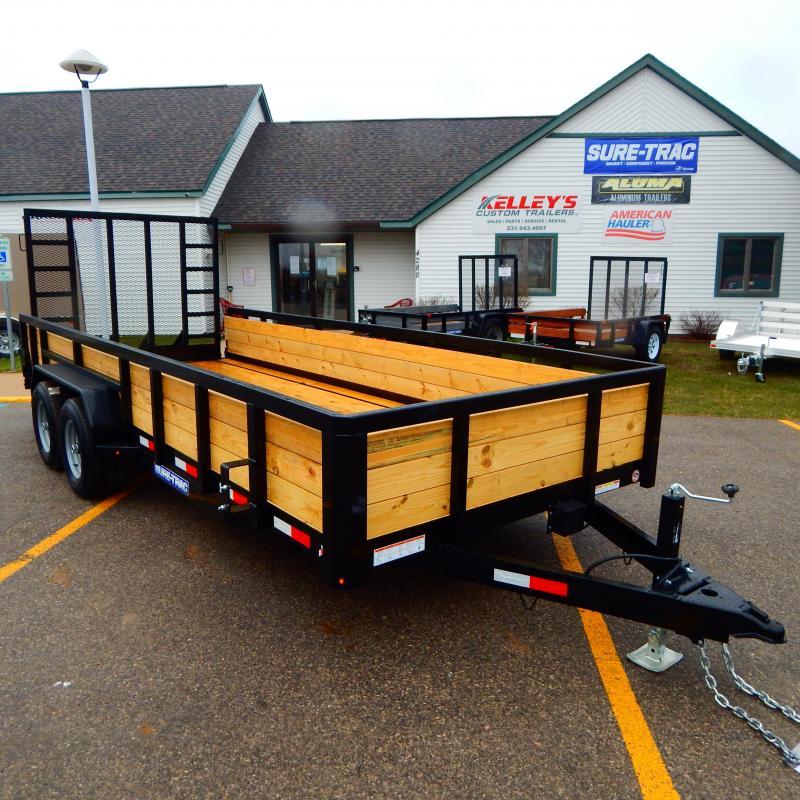 2021 Sure-Trac 7x20 10k Three Board Utility Trailer