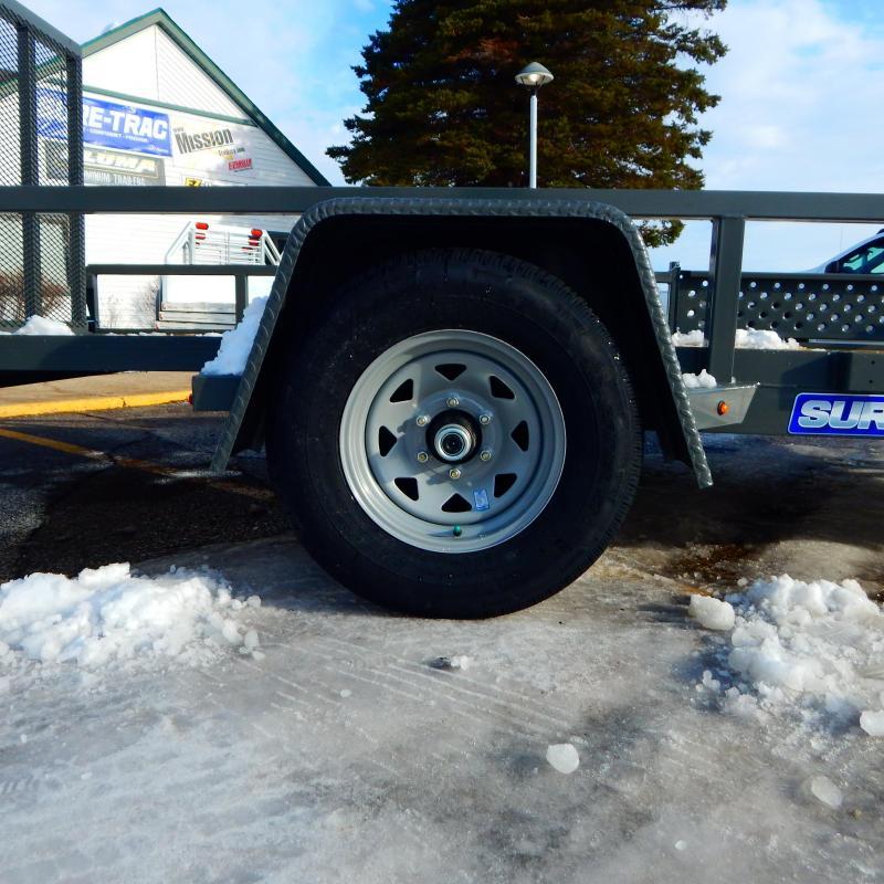 2021 Sure-Trac 7 x 14 Tube Top ATV Trailer  5K Brake
