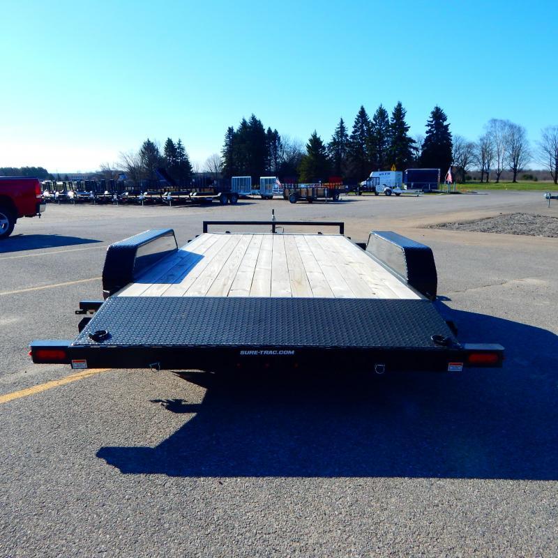 2021 Sure-Trac 7 x 18 (16+2) C-Channel Car Hauler Trail