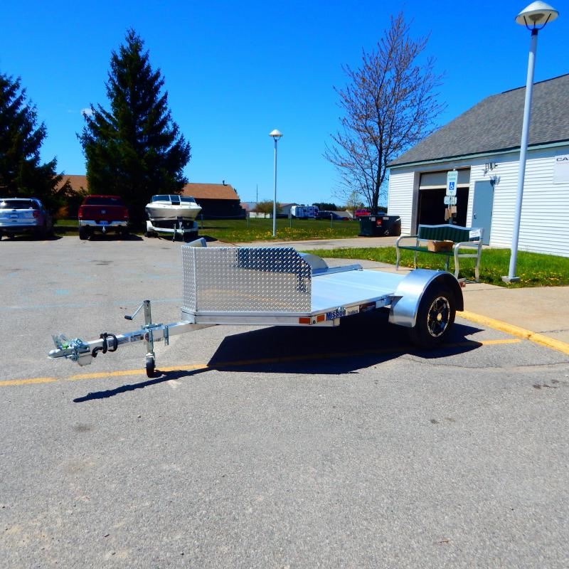 2021 Mission 5x8 2.2k One Place Motorcycle Trailer