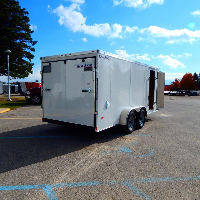 2020 Haul-About 7x16 7k Bobcat Enclosed Cargo Trailer