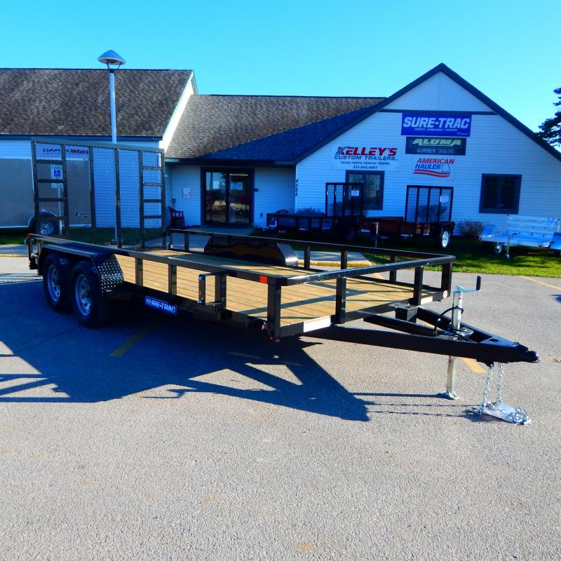 2020 Sure-Trac 7x14 7k 3 Board Utility Trailer