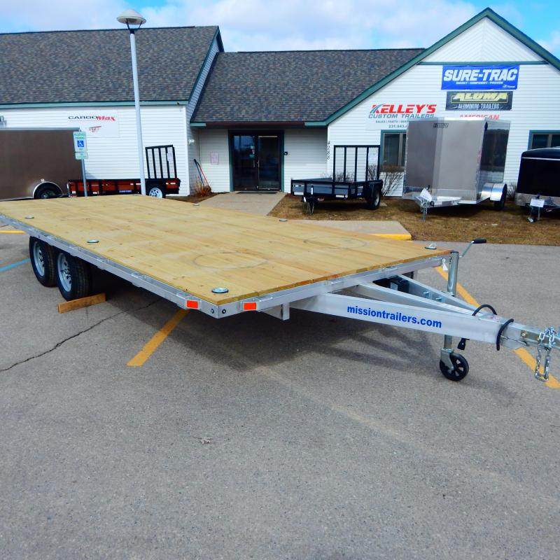 2020 Mission 8.5x20 7k Deckover Equipment Trailer