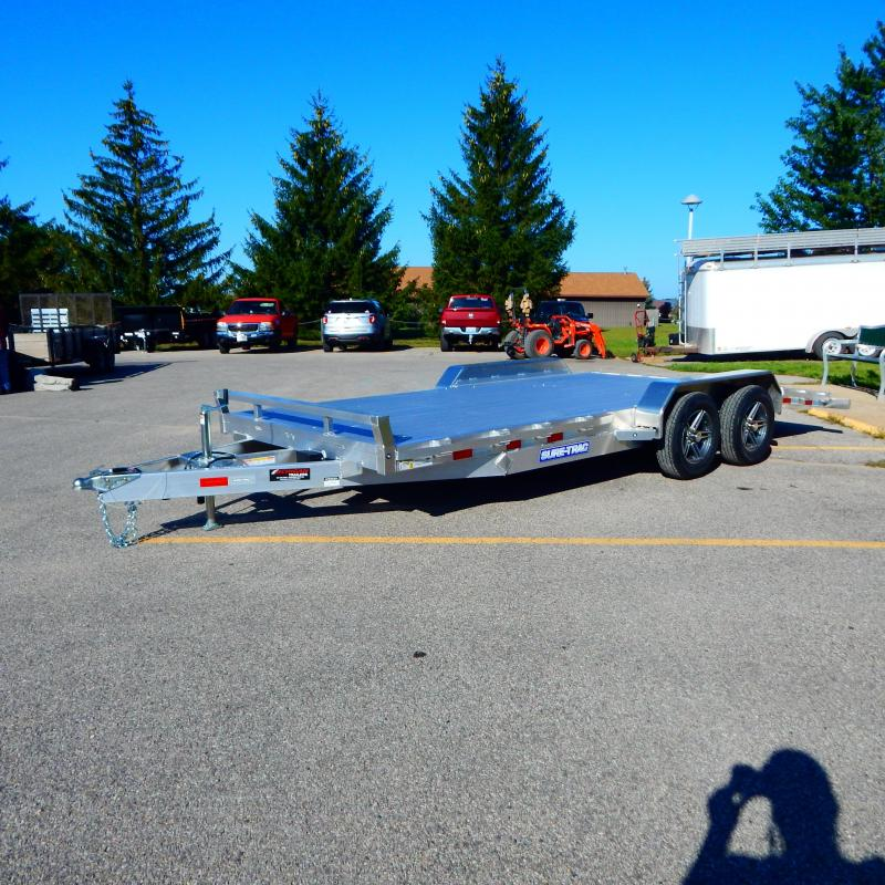 2021 Sure-Trac 7 X 18 (14+4) C-Channel Aluminum Car Hau