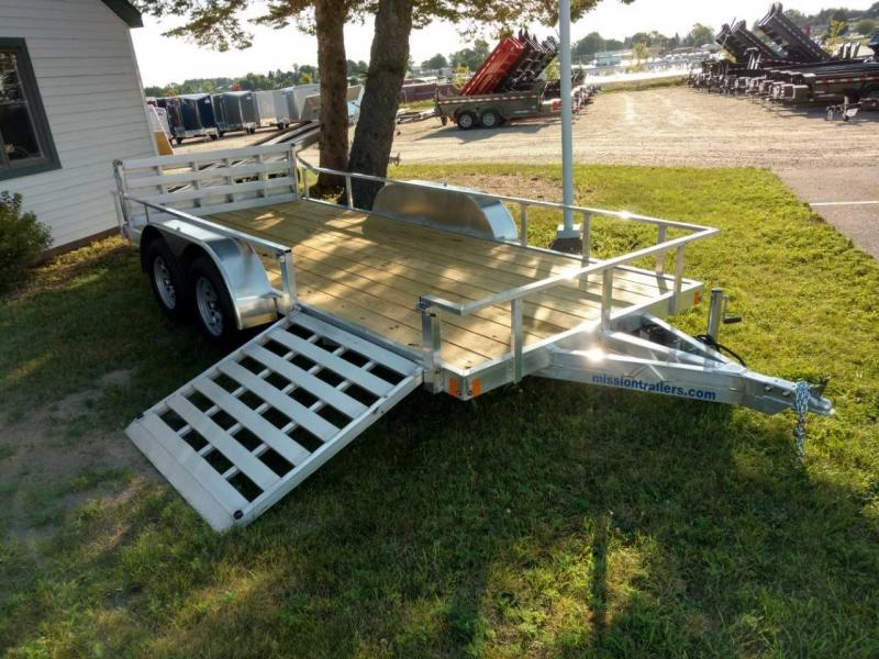 2021 Mission 6.5x16 6k Tube Top Utility Trailer