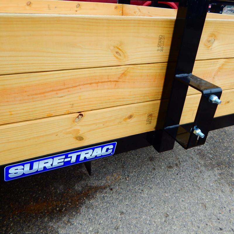 2021 Sure-Trac 7 x 12 Tube Top Three Board Trailer  3K