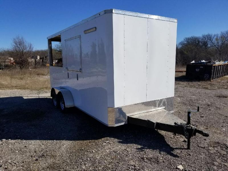 2021 SALVATION 7x16 BBQ PORCH CONCESSIN Vending / Concession Trailer