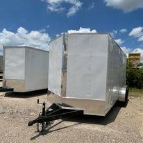 2022 8.5x16 white Enclosed Cargo Trailer