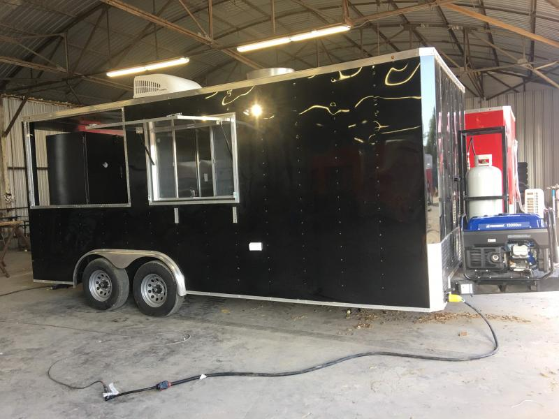 2021 8.5X18TA BBQ Smoker Vending / BBQ Concession Trailer