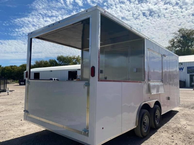 2021 SALVATION BBQ PORCH CONCESSION 8.5X20 Vending / Concession Trailer