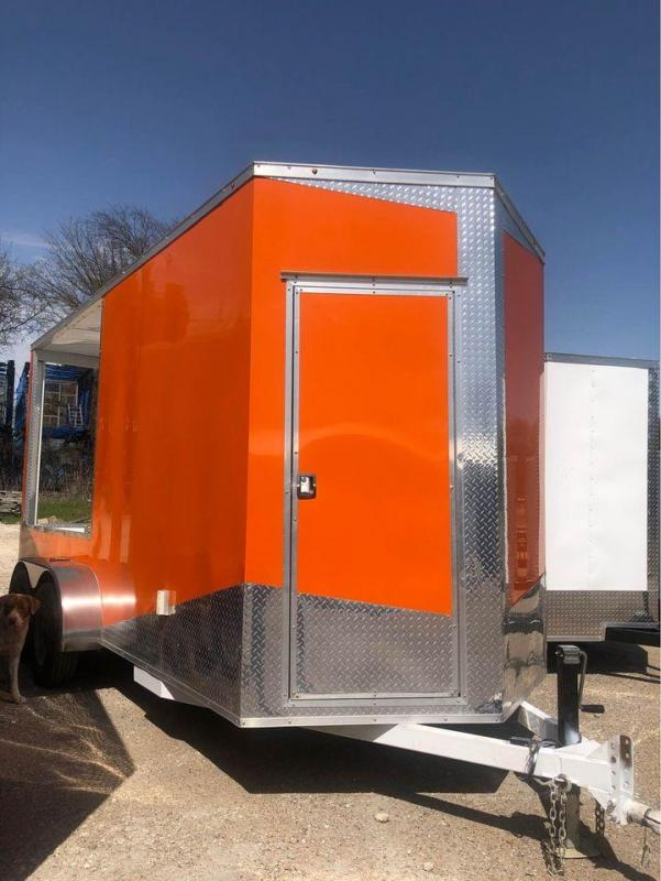 2021 BBQ PORCH start-up concession 7x16 Vending / Concession Trailer