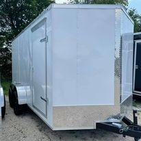 2022 Other Enclosed trailer 7x14 wihite Enclosed Cargo Trailer