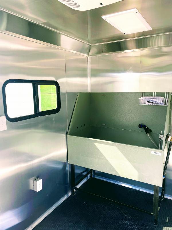 6X12TA Texas Mobile Dog Grooming Trailer