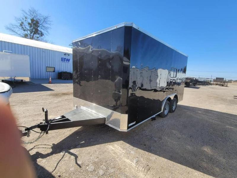 2021 Other 2021 FOOD TRAILER 8.5X16 BLACK Vending / Concession Trailer