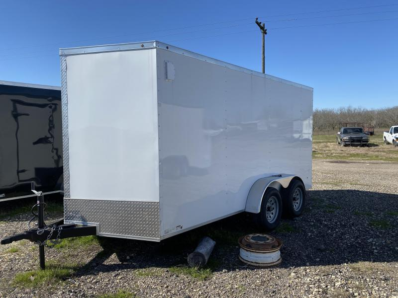 7X16TA-WHITE Enclosed Cargo Trailer