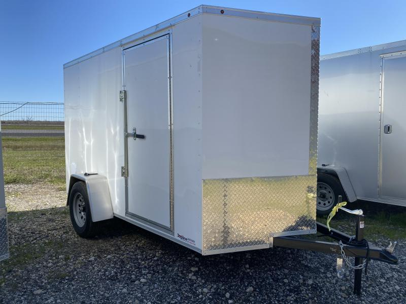 2020 Salvation Trailers 6X10SA- WHITE Enclosed Cargo Trailer