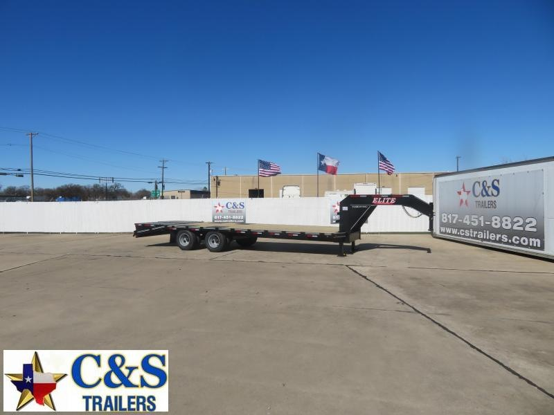2021 Elite Trailers 102 x 25 Flatbed Trailer