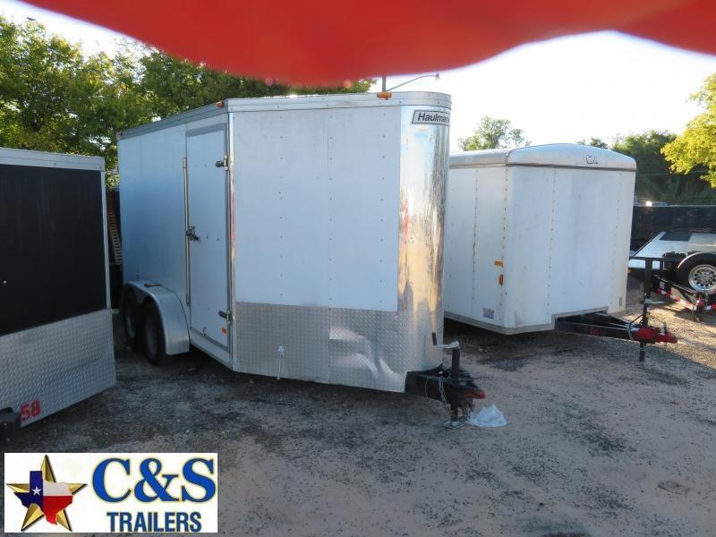 "Rental 50 - Haulmark 80"" x 15 1/2'  (12') V-Nose T/A Enclosed Cargo Trailer"