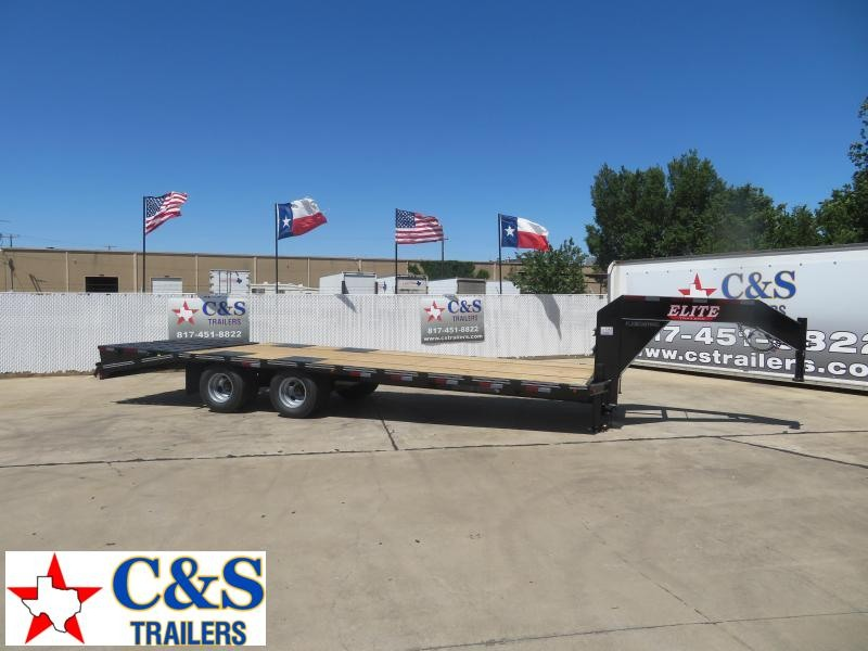 2020 Elite Trailers 102 x 25 Flatbed Trailer