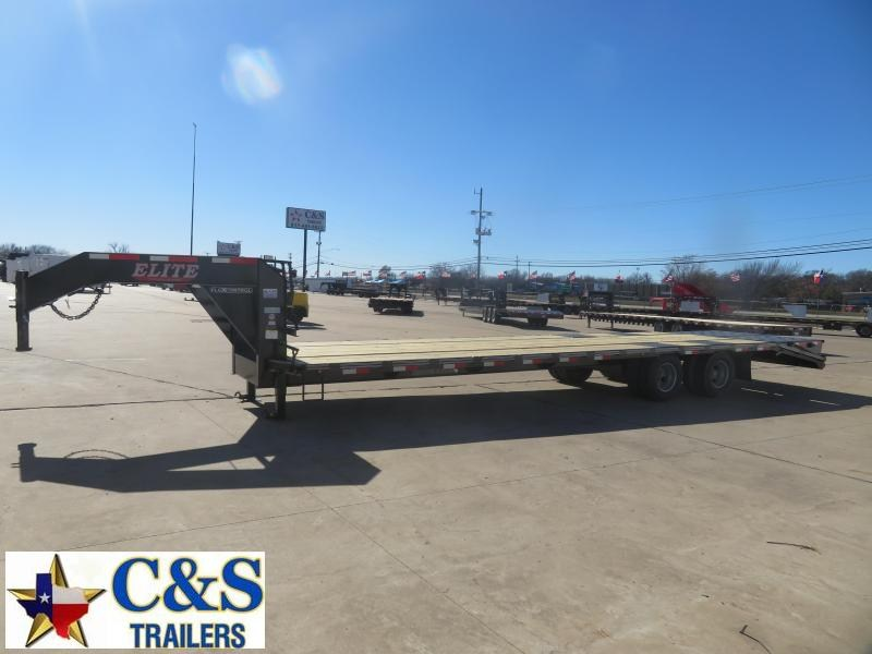 2021 Elite Trailers 102 x 32 Flatbed Trailer