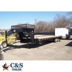 "Rental 28 - C & S 96"" x 24'+5' Equipment Trailer"