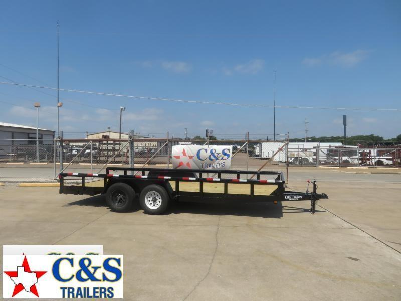 Rental 43 - 2019 C&S 77 x 18 Utility Trailer